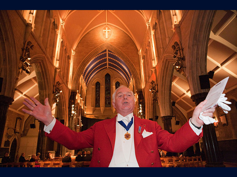 John Grosse Toastmaster at charity concert