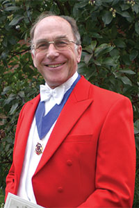 Brian Belton of the London Guild of Toastmasters